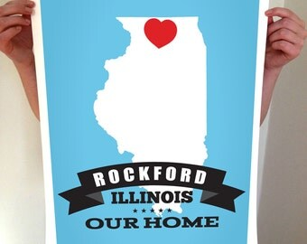States, State Print, State Art, State Poster, Custom State, State Sign, State Decor, Home, Homes is Where The Heart, Heart