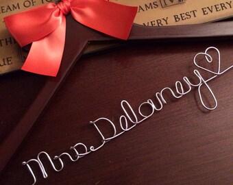 HUGE SALE SALE/Personalized Bridal Hanger / Bride  / Wedding Hanger /Bridal Gift / bridal party Gifts / wire hanger