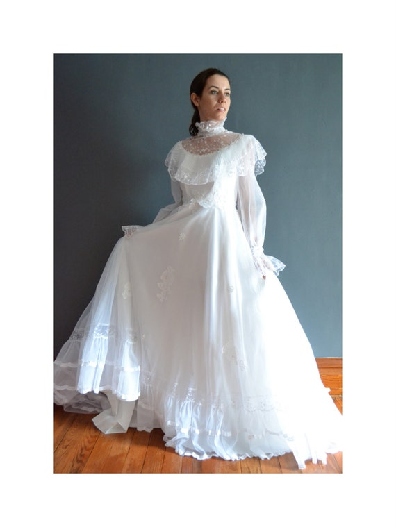 Blake 70s wedding dress 1970s wedding dress for 1970s wedding dresses for sale