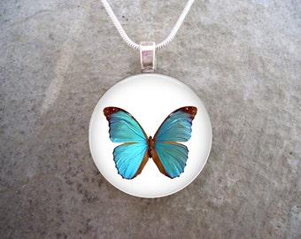 Butterfly Jewelry - Butterfly Glass Pendant - Butterfly 35