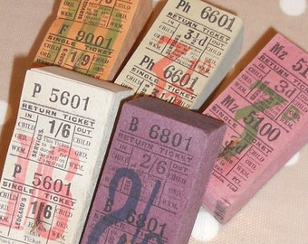 Selection Of Vintage Paper Ephemera - 10 Bell Punch Bus Tickets