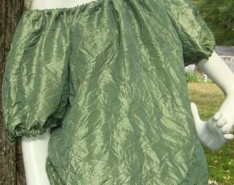 Green Peasant top