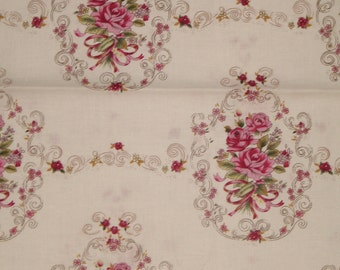 French Scrolled Rose fabric designed by Robin Mynatt for Paris Bebe Fabrics by the yard