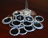 Set of 20 Chalkboard Wine Charms- Perfect for Parties