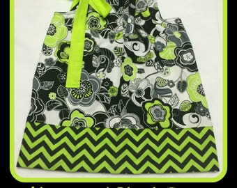 Lime and Black PIllowcase Dress