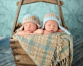 Newborn Knit Knotted Earflap Hat