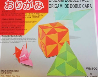 Origami Paper - 36 sheets of 15cm (6 inch) solid color double sided origami paper