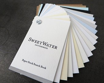 Letterpress Paper Stock Swatch Book