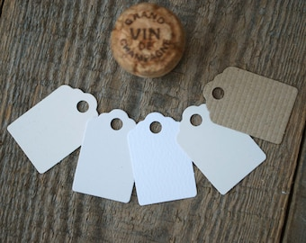 Recycled Tags, Rustic Natural colour Swing or Hang Tags, Price Tags, Small, available as sets of 60, 120 or 180