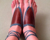 Hippie Handmade Leather Barefoot Sandals Pick Your Colors