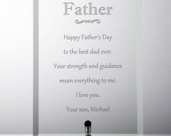 Glass Plaque for Dad