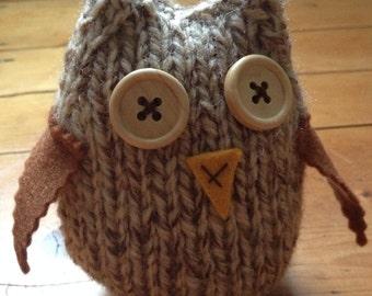 Owl Decor Cute Knitted Hoot Owl
