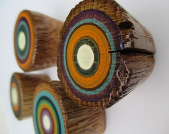 Cabinet Knob Pulls from Reclaimed  Barn Ladder Rungs - Hand Painted - Set of 4 (4PK1)