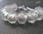 Clear Crystal Faceted Glass European Beads SKU#540