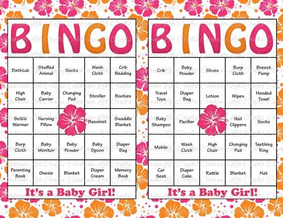 Items Similar To 60 Baby Shower Bingo Cards Printable