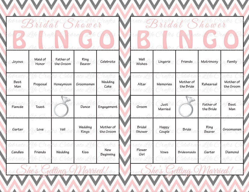 Nerdy image for bridal bingo printable