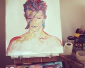 David Bowie Acrylic Painting SALE