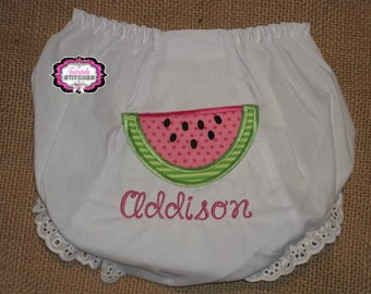 Watermelon Diaper Cover, Watermelon Bloomer, Watermelon Birthday, Diaper Cover