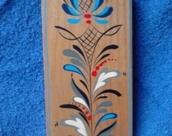 Pennsylvania Dutch Folk Art Wooden Paddle