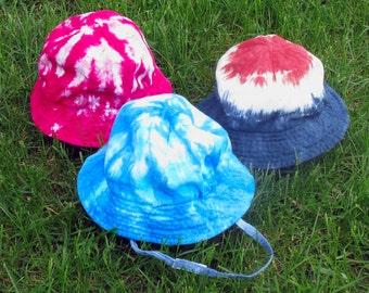 Tie-dye Sun Hats for Babies