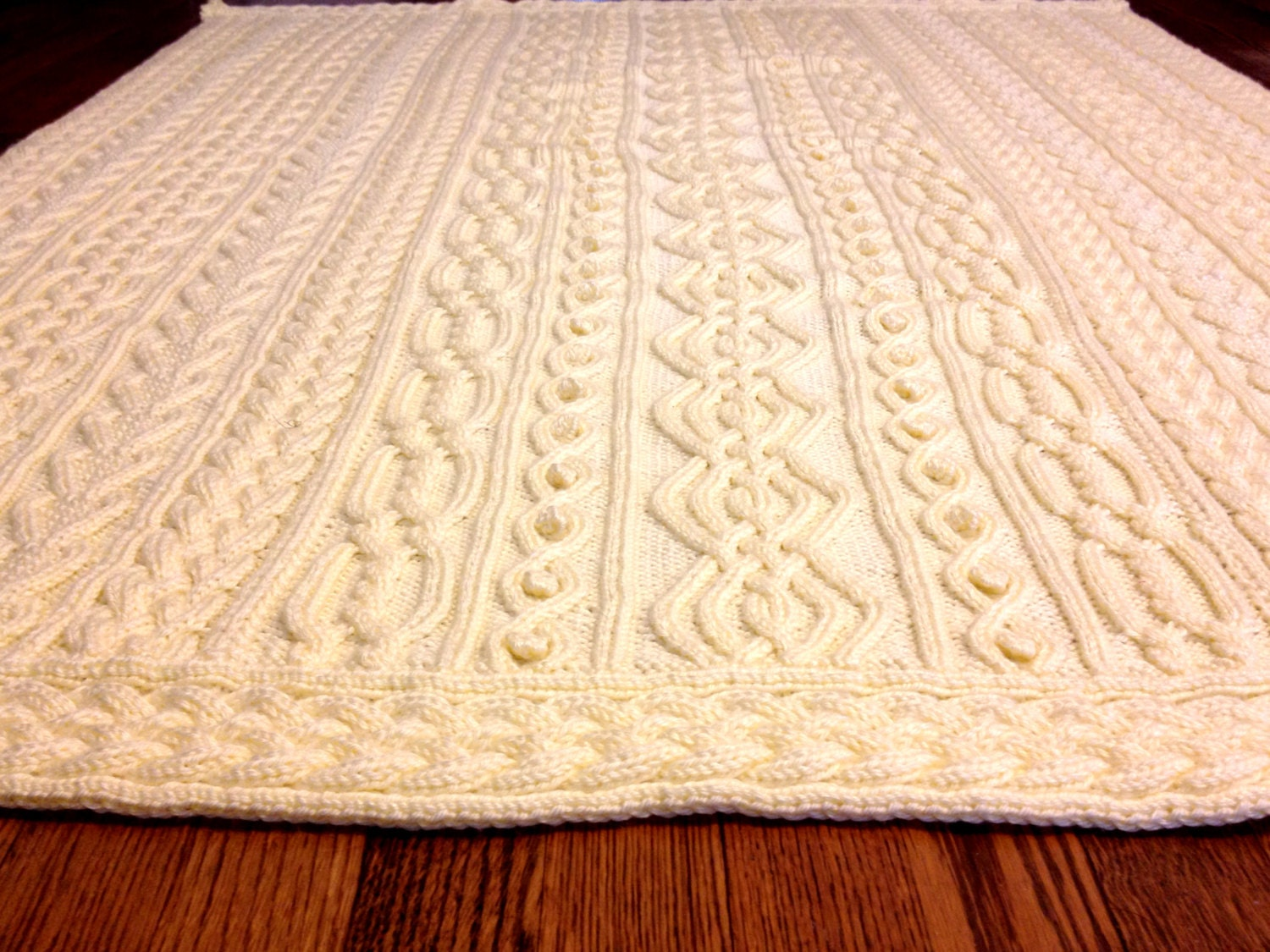 Irish Knitting Patterns Free : Knitting Pattern: Twisty Celtic Aran Afghan Fisherman Cables