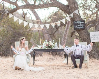 wedding bunting ideal romantic decoration