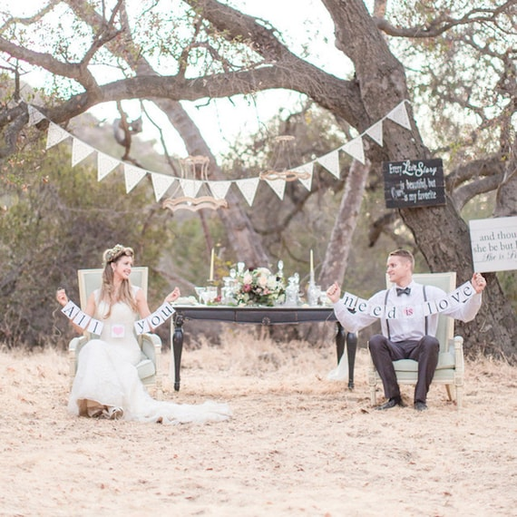 wedding bunting ideal romantic decoration