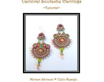 Carnival Soutache Earring - tutorial