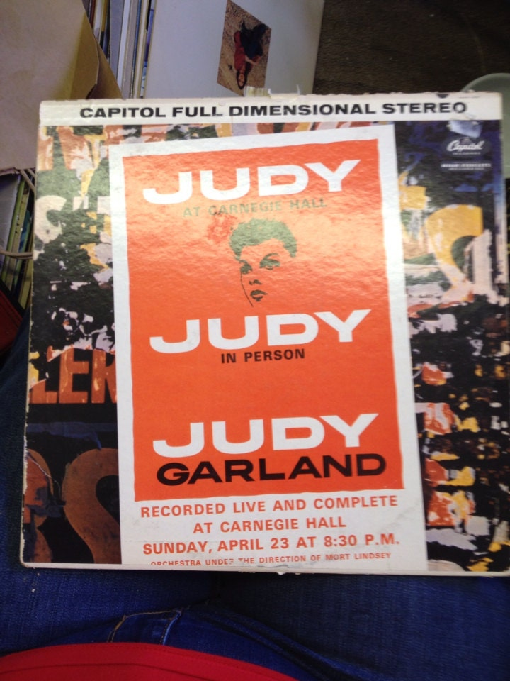 1961 Judy Garland In Person Recorded Live And Complete At