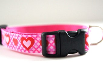 Last Chance! Spring Clearance Sale! Hearts Dog Collar Adjustable Sizes (XS, S,  M)