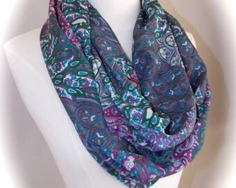 Classy Paisley infinity scarf