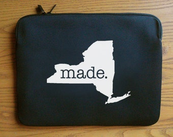 New York NY Roots or Made Neoprene Laptop Sleeve 13 or 15 inches