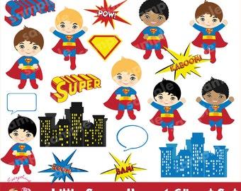 Super Hero 1 Clipart Set