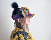 UTHA   V Dragon trucker hat , cap, mask ,festival headdress