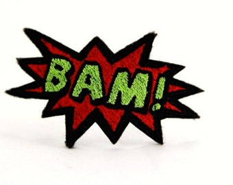 Limited - BAM! Design for Embroidery,  Multiple Formats Available. POP ART. Comic Book. Geek