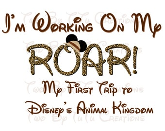 My First Disney Trip Mickey Safari Custom DIY Printable Image for Iron On Transfer Disney Animal Kingdom