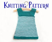 PDF Knitting Pattern - Daisy, Baby Dress, Infant Sun Dress, Sizes 3m - 10y, Baby Toddler Child, Girls Knitting Pattern, Child Dress Pattern