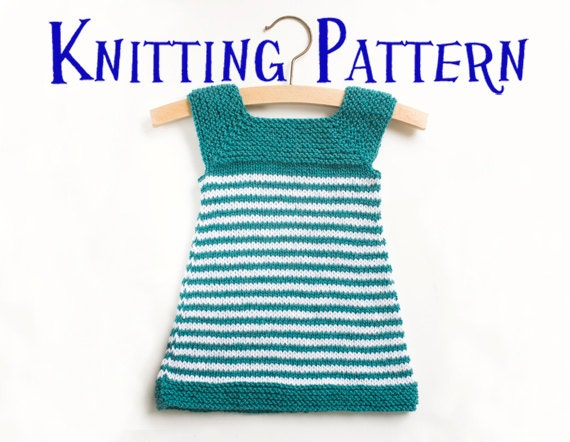 Knitting Pattern Sweater Dress Girl : PDF Knitting Pattern Daisy Baby Dress Infant Sun Dress