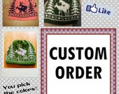 CUSTOM ORDER - Fornicating Deer Knit Hat