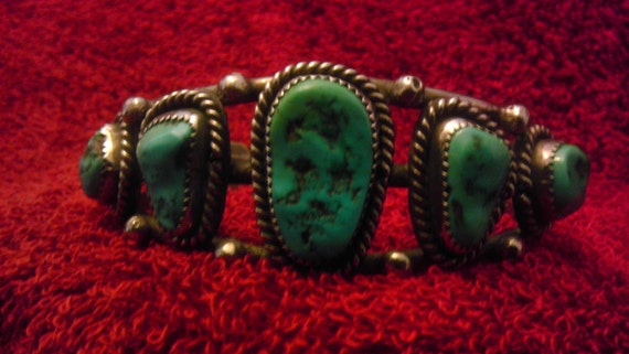 Large Navajo Turquoise Bracelet