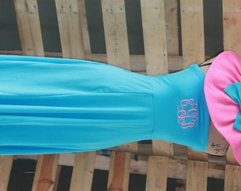 Monogrammed Womens Personalized Beach Swim Cover Up