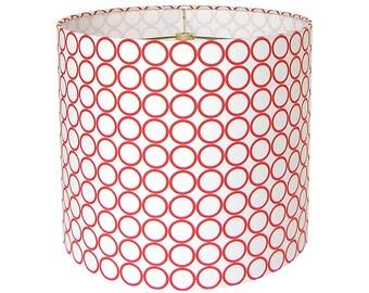 Lamp Shade Lampshade Pendant Metro Living Circles by Robert Kaufman Carrot Made to Order