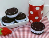 1 Oreo Cookie Tape Measure Cover or Cozy. Retractable tape. Chocolate and creme filling.