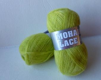 Yarn Sale  Lime 4-2 Mohair Lace II by Filati Europa