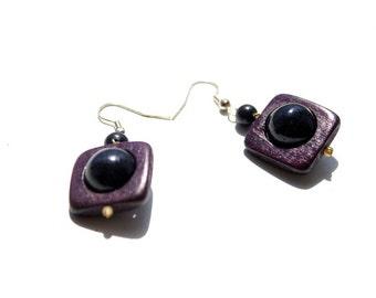 Wooden Earrings Salute. Handmade wooden accessories. Wooden jewelry