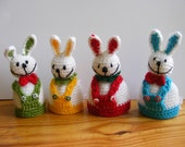 Easter bunny, egg warmer, easter decoration, easter egg cozy.