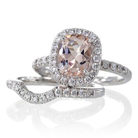 Pink Diamond Engagement Rings Cushion Cut