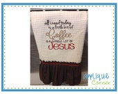 INSTANT DOWNLOAD All I need is Coffee and Jesus embroidery design in digital format for embroidery machine by Applique Corner