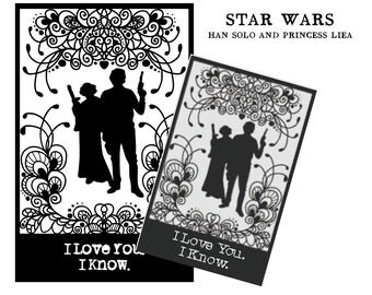I love you. I know. Star Wars Han Solo and Princess Leia, cross stitch pattern