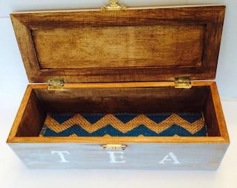 Rustic Tea Box Gray